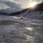Ice driving, Madesimo, Italy. Copyright Gretta Schifano