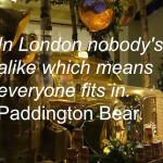 Paddington Bear, Selfridges, London. Copyright Gretta Schifano