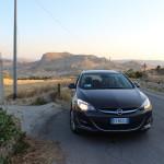 Driving through Sicily in a hire car. Copyright Gretta Schifano