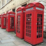 London phone boxes. Copyright Gretta Schifano