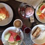 Breakfast, Cardiff Marriott Executive Lounge. Copyright Gretta Schifano