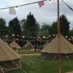 Glamping site at Chessington World of Adventures. Copyright Afra Willmore
