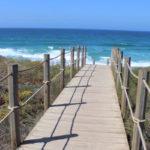 Boardwalk to beach, Praia D'el Rey, Portugal. Copyright Gretta Schifano