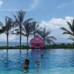 Swimming pool at Fairmont Hotel, Bali. Copyright Sharmeen Ziauddin