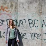 Gretta Schifano at the Berlin Wall Memorial. Copyright Izzy Schifano