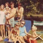 Family in the garden. Copyright Jack Heselden
