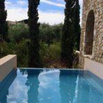 Private pool, Costa Navarino. Copyright Gretta Schifano