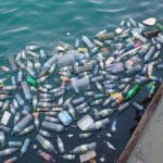 Plastic waste in sea. Image from Pixabay.