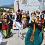 Traditional dancing, fiesta, Santa Eulària des Riu, Ibiza. Copyright Petra Shepherd