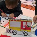 Family activities at London Fire Brigade Museum. Copyright London Fire Brigade Museum
