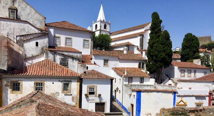 View of Óbidos, Portugal. Copyright Gretta Schifano