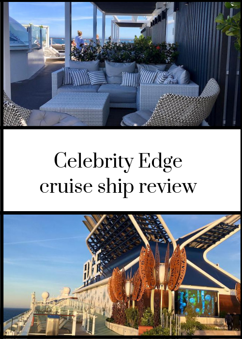 Review of innovative Celebrity Edge cruise ship from inaugural Europe sailing from Southampton. Described as the most technologically advance cruise ship in the world. Including accommodation, Magic Carpet, design, food, Eden and more - click through for full review.