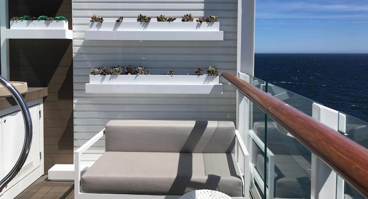 Edge Villa balcony, Celebrity Edge. Copyright Gretta Schifano