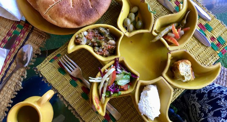 Lunch at Dar Zaghouan, Tunisia. Copyright Gretta Schifano