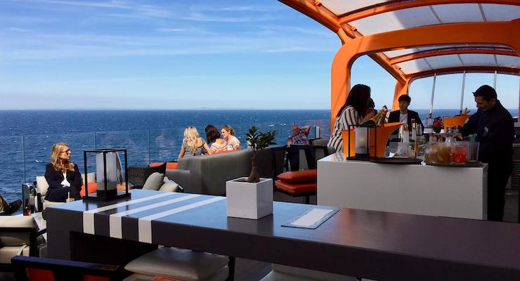 Magic Carpet bar area, Celebrity Edge. Copyright Gretta Schifano