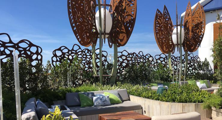 Rooftop Garden, Celebrity Edge. Copyright Gretta Schifano