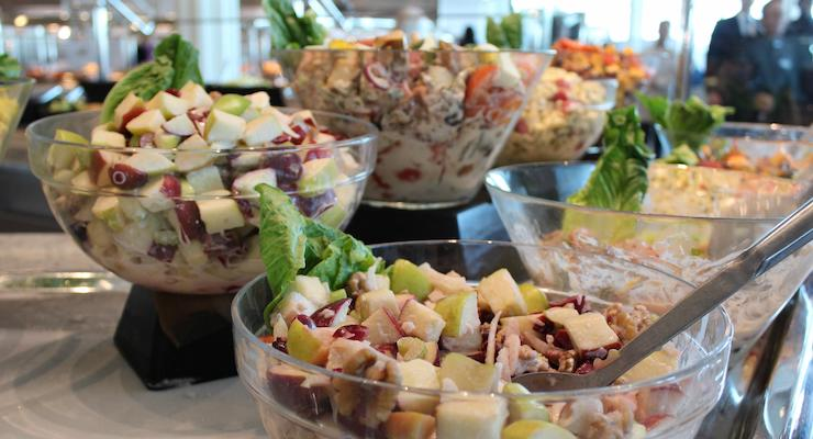 Salads at Oceanview Café, Celebrity Edge. Copyright Gretta Schifano