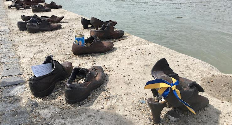 Shoes on the Danube, Budapest, Hungary. Copyright Gretta Schifano