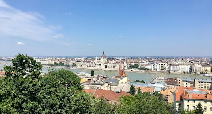 View from Fishermen's Bastion, Budapest. Copyright Gretta Schifano
